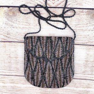 Vintage Shiny Beaded Purse Magnet Closure Bag